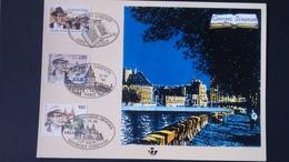 Émission Commune: Georges Simenon ( Belgique ) - Cartes Souvenir