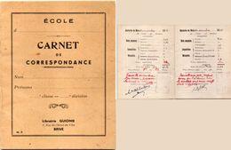Ecole - Carnet De Correspondance - Notes Et Appréciations (102401) - Diplômes & Bulletins Scolaires