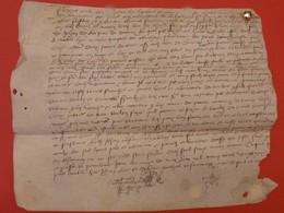 1553 - Beau Parchemin Manuscrit Sur Peau (28 X 23 Cm) - Plié Pour Archives - Manuscripts