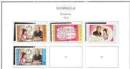 Nicaragua 1973 Natale Scott.912/915+ Usato/Nuovi On Scott.Album See Scans - Nicaragua