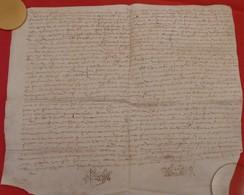 1612 - Beau Parchemin Manuscrit Sur Peau (42 X 36 Cm) - Plié Pour Archives - Manuscripts