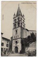 81 -ROQUECOURBE ( Tarn) L'Eglise - Femmes Et Fillettes Devant L'entrée-CPA - Roquecourbe