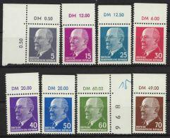 """Mi-Nr. Aus 845/1080, """"Ulbricht"""", 8 Versch. Werte Mit Oberrand  """"DM"""", Sher Hoher KW, ** - DDR"""