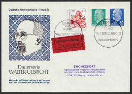 Mi-Nr. 846, 937, Je Besseres Wasserzeichen Auf Eilbotenbrief In MiF, Dekorativ - DDR