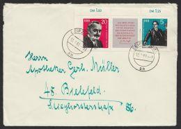 """Mi-Nr. 893/4, """"Dimitroff-Zusammendruck"""" Als EF Auf Brief Nach Bielefeld, """"Leipzig"""", 12.7.62 - DDR"""