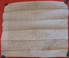 1581 - Parchemin Manuscrit Sur Peau (37 X 32 Cm) - Plié Pour Archives - Manuscripts