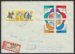 """Mi-Nr. 901/6, """"Weltfestspiele 1962"""", Beide ZD Auf R-Brief - DDR"""