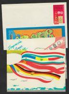 """Mi-Nr. 1570, 1615, Blankobrief """"Manöver Waffenbrüderschaft"""" 1970, Dazu 3- Farbige Vorfrankierte Karte Zum Anlass - Briefe U. Dokumente"""