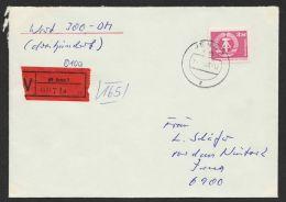 """Mi-Nr. 2633, EF Auf Wertbrief """"Jena"""" - DDR"""