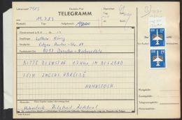 Mi-Nr. 2753, MeF Mit 2 Werten Auf Telegramm - DDR