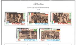 Nicaragua 1974 Mondiali Calcio Scott.923/927+ Usato/Nuovi On Scott.Album See Scans - Nicaragua