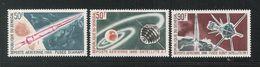 SENEGAL - 1966 - 3 VALORI NUOVI STL DI P.A. DEDICATI AL LANCIO DEL PRIMO SATELLITE FRANCESE - IN OTTIME CONDIZIONI. - Space