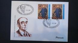 Émission Commune: Théo Van Rysselberghe (Fdc Luxembourg ) - Cartes Souvenir