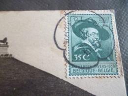SUR CPA Waterloo 14/15/1930 1 TP Ancien + Cachet Remarquable - Belgique