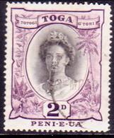 TONGA 1949 SG 76a 2d Used Wmk Mult.Script CA - Tonga (...-1970)