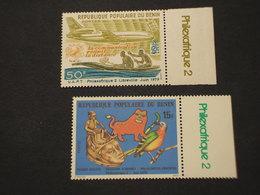 BENIN - 1979 MASCHERE/AEREO  2 VALORI - NUOVI(++) - Benin – Dahomey (1960-...)