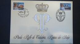 Émission Commune: Paola Reine Des Belges(Belgique ) - Cartes Souvenir