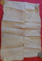 1562 - Très Grand Parchemin Manuscrit Sur Peau (85 X 62 Cm) - Cas Rare: à été Fait En 2 Parties Cousues Manuellement - Manuscripts
