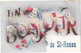 SAINT RENAN (29) Carte Fantaisie Bonjour - France