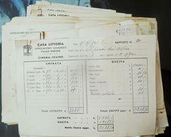 2,5 Kg Schede Film Di Guerra Cinema Teatro Da Casa Littoria Del Biellese 1939 - 1943 OND PNF WW2 Fascismo - Merchandising