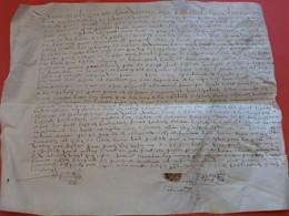 1604 - Beau Parchemin Manuscrit Sur Peau (37 X 30 Cm) - Plié Pour Archives - Manuscripts