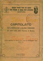 MANTOVA-CAPITOLATO PER LA CONDUZIONE A COLONIA E MEZZADRIA DEI FONDI RUSTICI-1930 - Decreti & Leggi