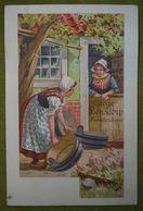Cacao Et Chocolat Bensdorp - Amsterdam (Hollande) - Nettoyage Des Bassines à Linge- Belle Carte Publicitaire - Advertising