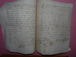 1669 - Beau Parchemin Manuscrit Sur Peau - Règlement Du Baillage De Terres - - Manuscripts
