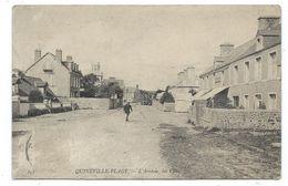 CPA - QUINEVILLE PLAGE, L' ARRIVEE, LES VILLAS - Manche 50 - Animée ( Facteur ? ) - Circulé 1906 - France