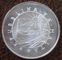 (J) MALTA: Silver 2 Pounds 1975 BUNC (2525)  GREAT!!!! - Malta