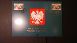 Émission Commune: Palais Mniszech à Varsovie (Belgique ) - Cartes Souvenir
