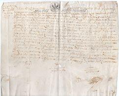 1678 - Parchemin Manuscrit ( Peau Format 215 X 265) - Cachet Généralité D'Alençon - Taxe De 6 Sols - Pour Placard - Seals Of Generality
