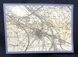 Plan Ancien De MORET Sur LOING ( Seine Et Marne), Datant De 1927. - Cartes Géographiques