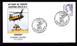 ITALY ITALIA 2013. SPECIAL POSTMARK. HELICOPTER. Hubschrauber. Hélicoptère, Helikopter. Helicopetero. Chinook - Hubschrauber