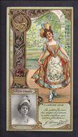 LU Biscuits Lefèvre Utile Chromo Gaufré Art Nouveau Célébrités Simon Girard La Fille De Mme Angot - Lu