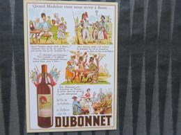 TI - CARTE PUBLICITAIRE - REPRODUCTION D'AFFICHE  - Dubonnet  - Quand Madelon Vient Nous Servir A Boire - Advertising
