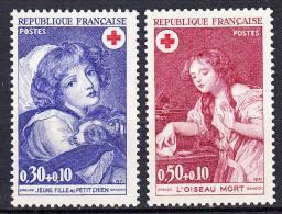 FRANCE  - 1971 - Yvert  1700/1701 ** - Croix Rouge - France