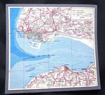 Plan Ancien De Le Havre, Harfleur, Montivilliers, Honfleur, ( Seine-Maritime), Datant De 1954. - Cartes Géographiques