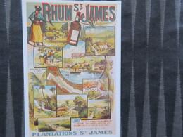 TI - CARTE PUBLICITAIRE - REPRODUCTION D'AFFICHE  - RHUM ST JAMES - Publicité