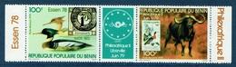 Benin, Philexafrique II 79 And Essen 78, 1978, MNH VF - Benin - Dahomey (1960-...)