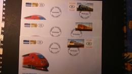 Souvenir : Courrier Par Train (Namur-Charleroi)  Tirage 800 Ex Numéroté - Erinnerungskarten