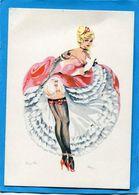 """FRENCH CANCAN-danseuse""""BRIGITTE"""" Illustrée -Alice Carte Neuve Années50  édition Ndf - Femmes"""