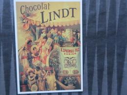 TI - CARTE PUBLICITAIRE - REPRODUCTION D'AFFICHE  -  CHOCOLAT LINDT - Publicité