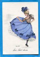 """FRENCH CANCAN-danseuse""""Janicotte"""" Illustrée - Carte Neuve Années50  édition  Vieux Moulin - Femmes"""
