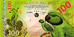 Superbe NEDERLANDS MAURITIUS 100 Gulden 2016  La Perruche De Newton POLYMER UNC - Mauritius