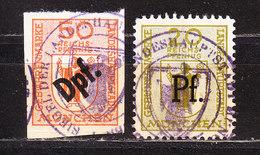 2 Gebuehrenmarken, Muenchen (46544) - Gebührenstempel, Impoststempel
