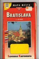 Bratislava Slovak Kartografia 1994, 1994, Scale 1: 20,000 Map Strassenkarte Bratislava - Strassenkarten