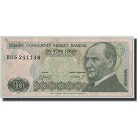Billet, Turquie, 10 Lira, L.1970, 1970-01-14, KM:192, TB - Turkey