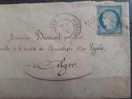 France  - Juillet 1852 - Algérie - Lettre De Médeah à Alger - 1871-1875 Cérès