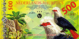 Superbe NEDERLANDS MAURITIUS 500 Gulden 2016  Founingo Hollandais  POLYMER UNC - Mauritius